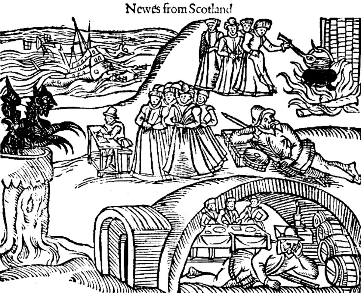 Illustration from a Scottish newspaper during the Witch Hunt era.