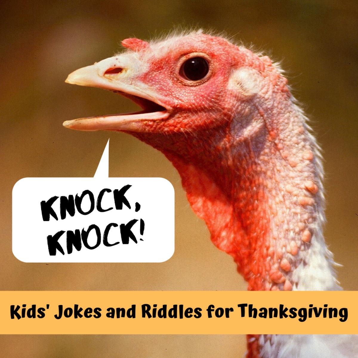 Thanksgiving Knock-Knock Jokes and Riddles for Kids