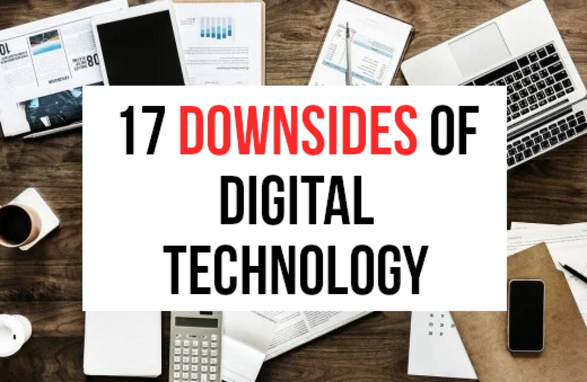Digital technology has transformed modern life with gadgets such as laptops, tablets, and smartphones now commonly owned. As well as bringing benefits, digital technology has also bought many downsides.