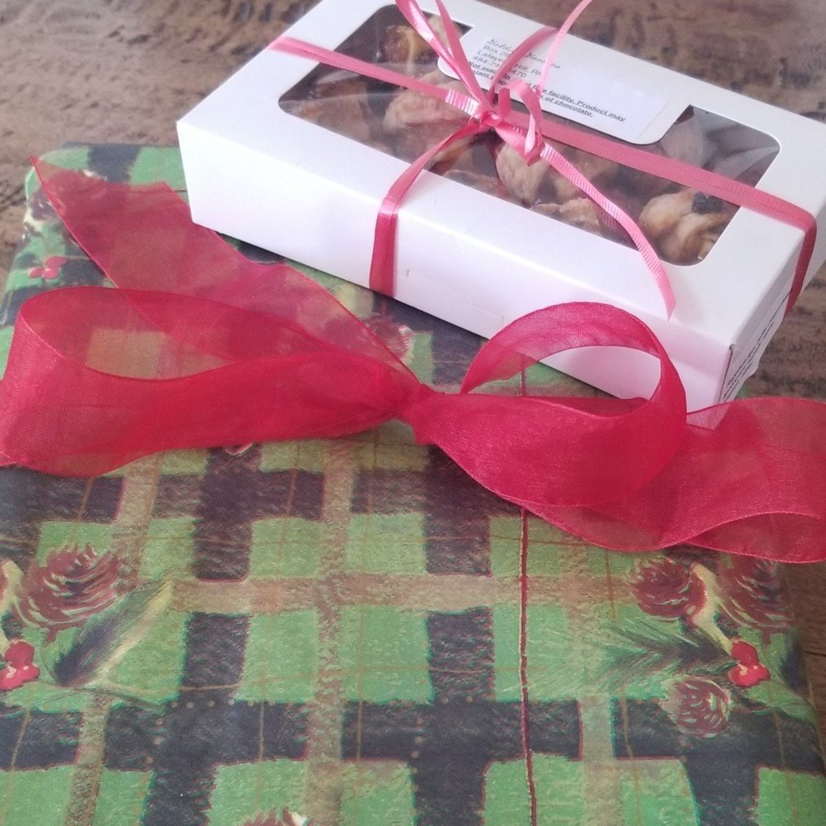 Red ribbon adds vibrant color and interest to gifts.