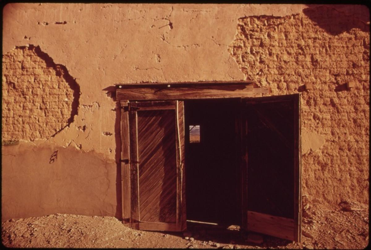 Crumbling Adobe House in Terlingua