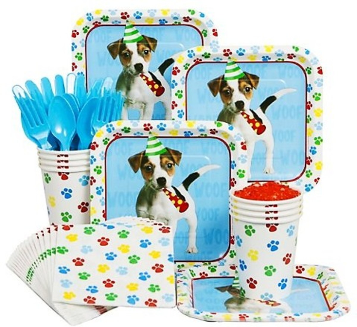 These puppy dog party supplies were released after my daughter's party and are just as cute! This would be another great partyware option for your celebration.