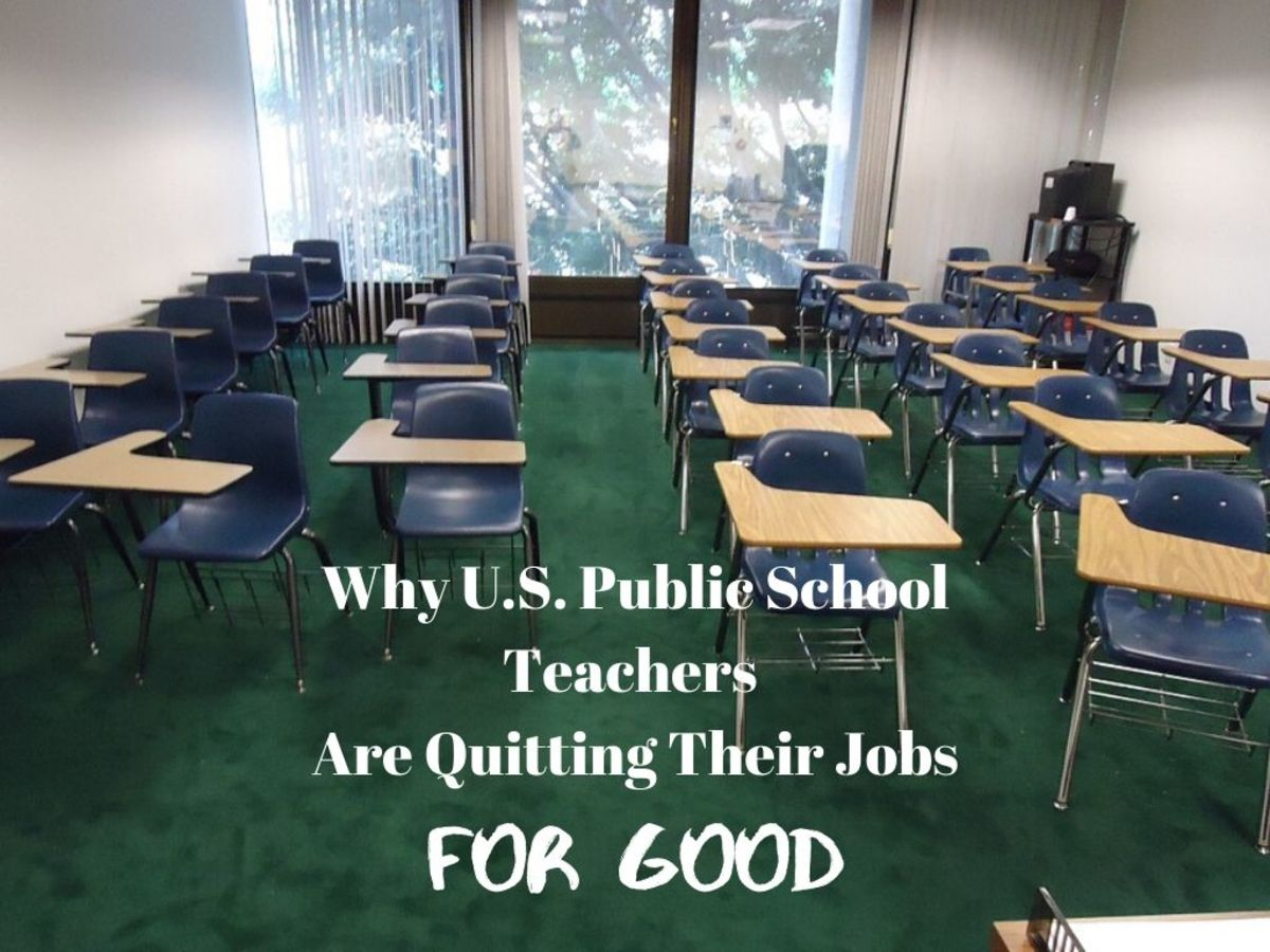 Poor working conditions are the primary reason U.S. public school teachers are saying good-bye to the profession for good.