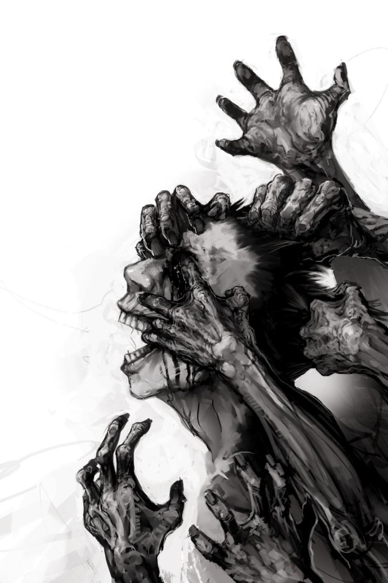 Zombie Book Cover by zoppy via DevianArt