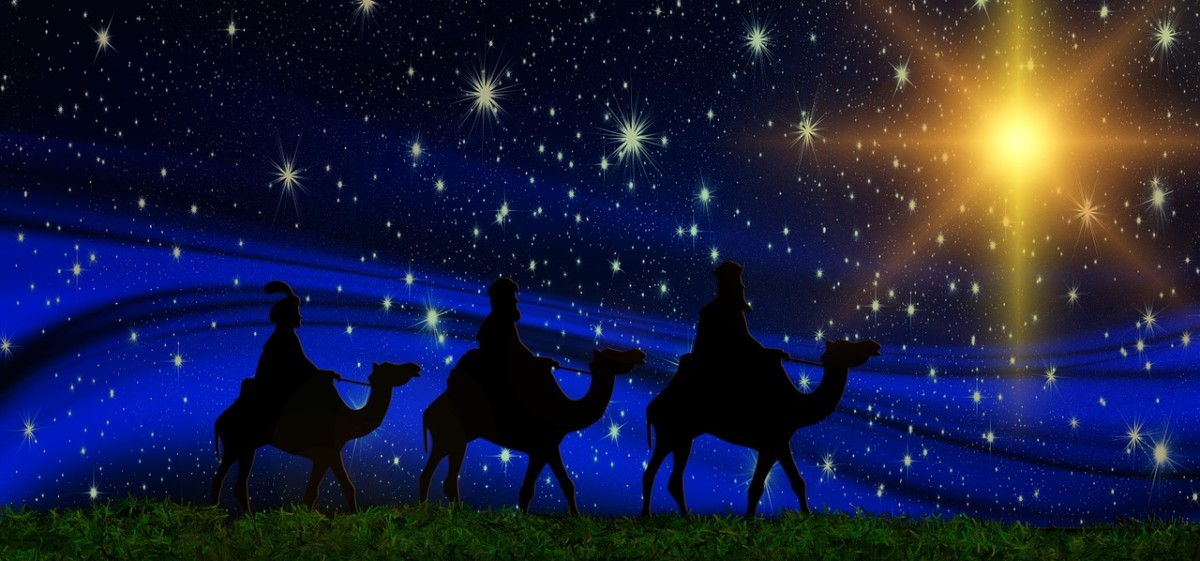 December Magic: The Three Wise Men follow the Star of Bethlehem to find the newborn infant king.