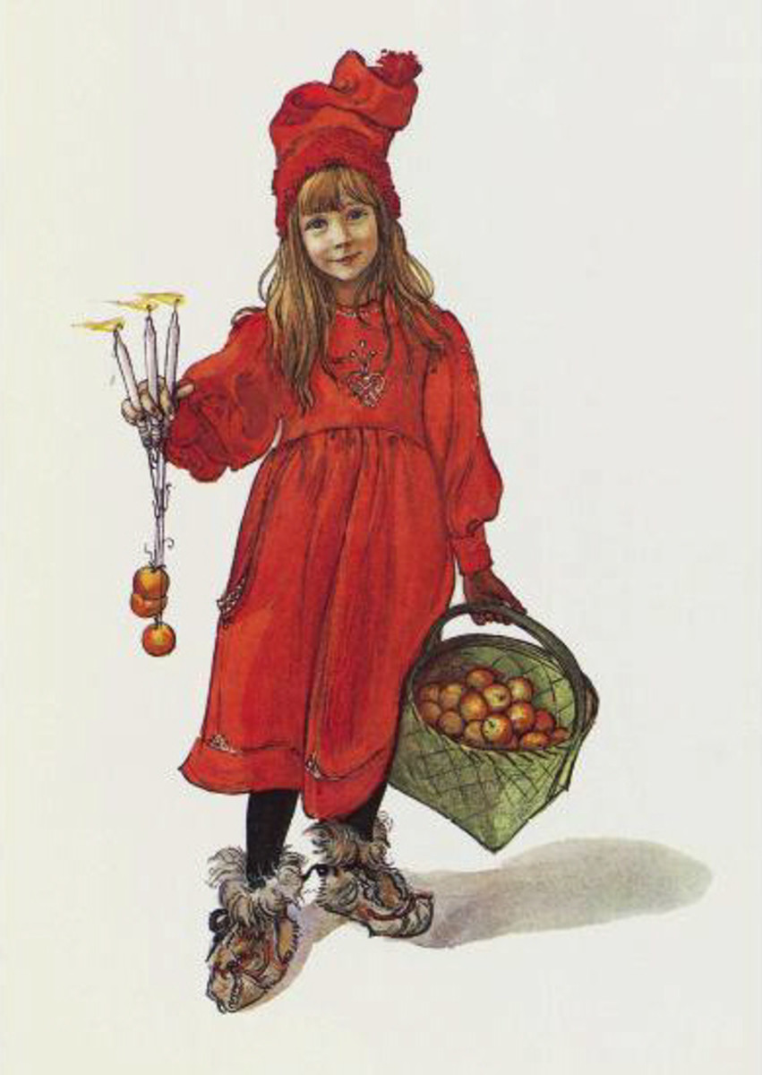 Brita as 'Iduna' by Carl Larsson