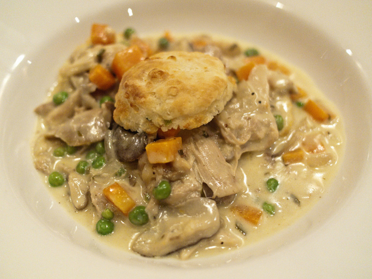 Biscuit Chicken Pot Pie Recipe