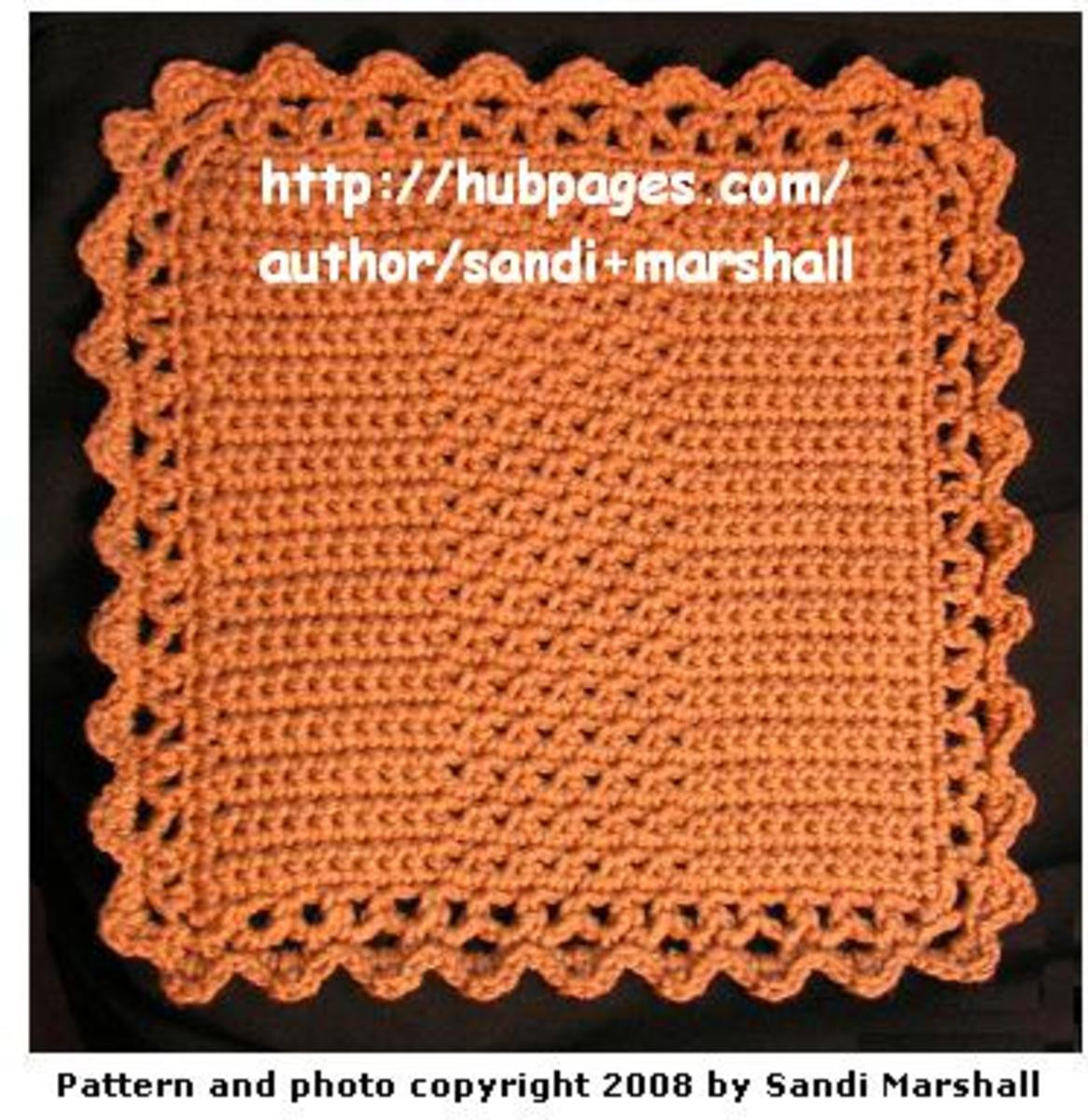 Knitting Pattern Central Dishcloths : CROCHET APPLE DISHCLOTH PATTERNS Crochet Patterns Only