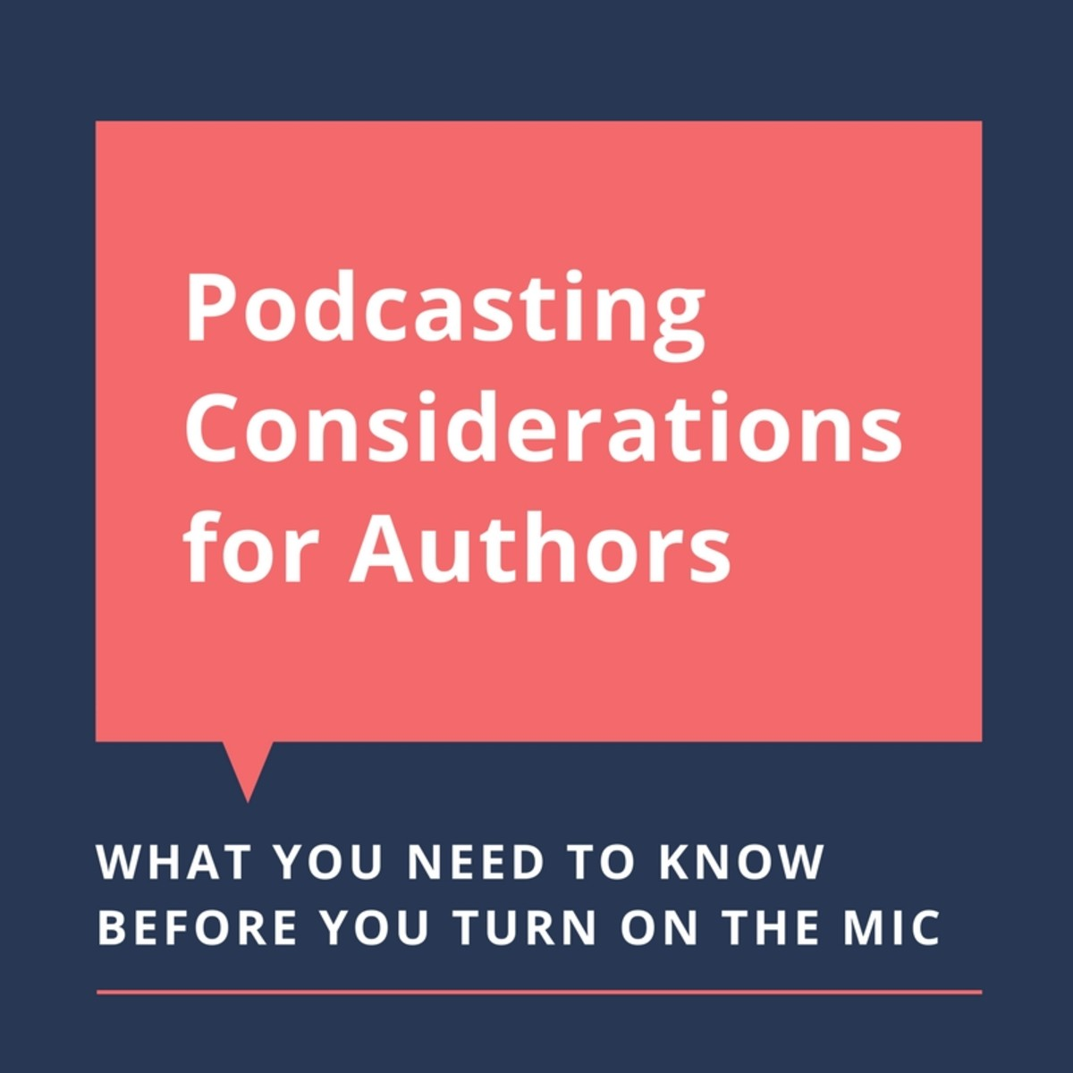 Some things to consider before podcasting.