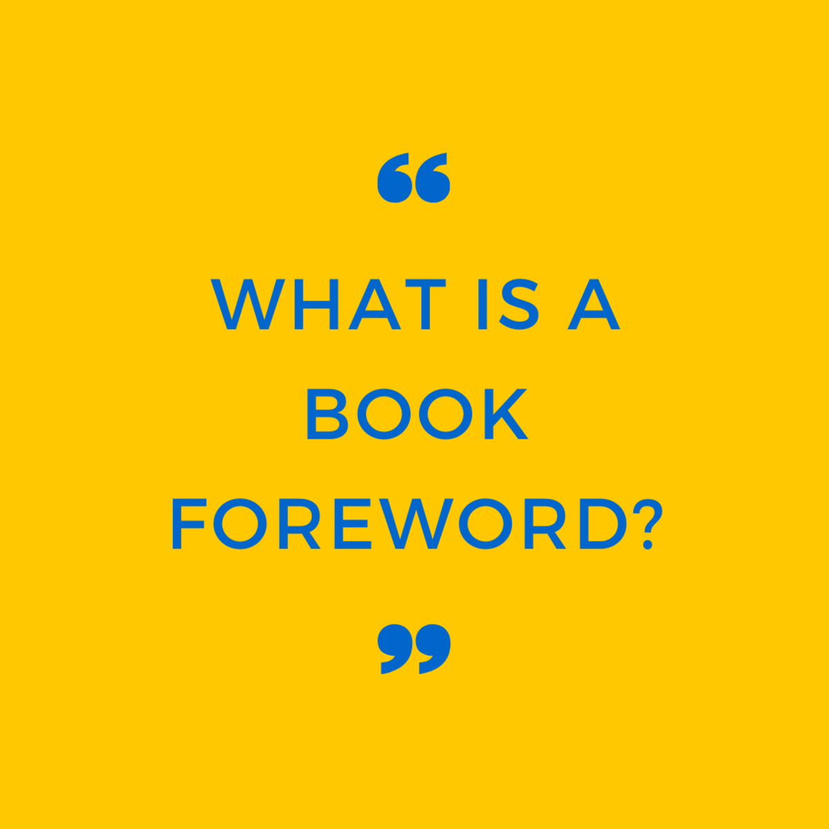 What Is a Book Foreword?