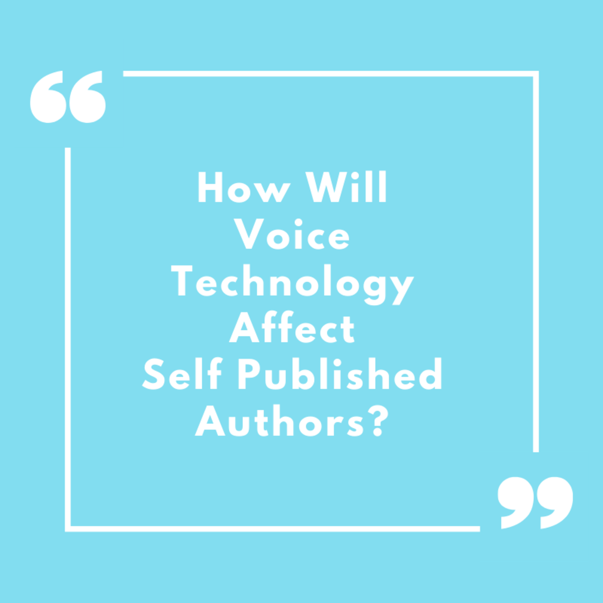 How Will Voice Technology Affect Self Published Authors?