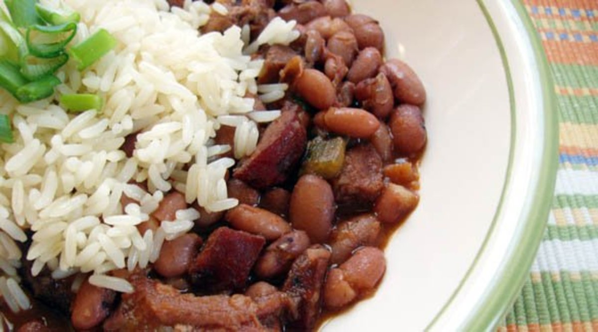 Red beans and rice.