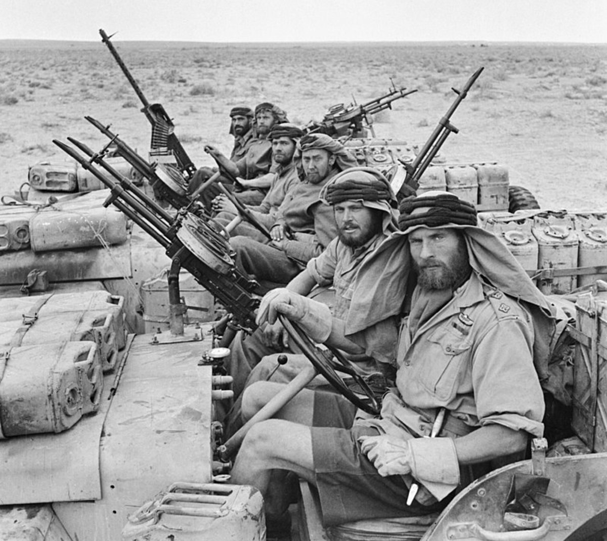 This is how they looked in WW2 when they harassed the Germans in North Africa. And about as far away from a British Military look as you can get.