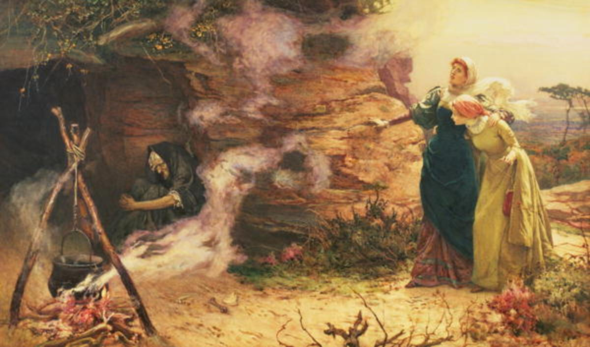 A Visit to the Witch, by Edward Frederick Brewtnall, 1882
