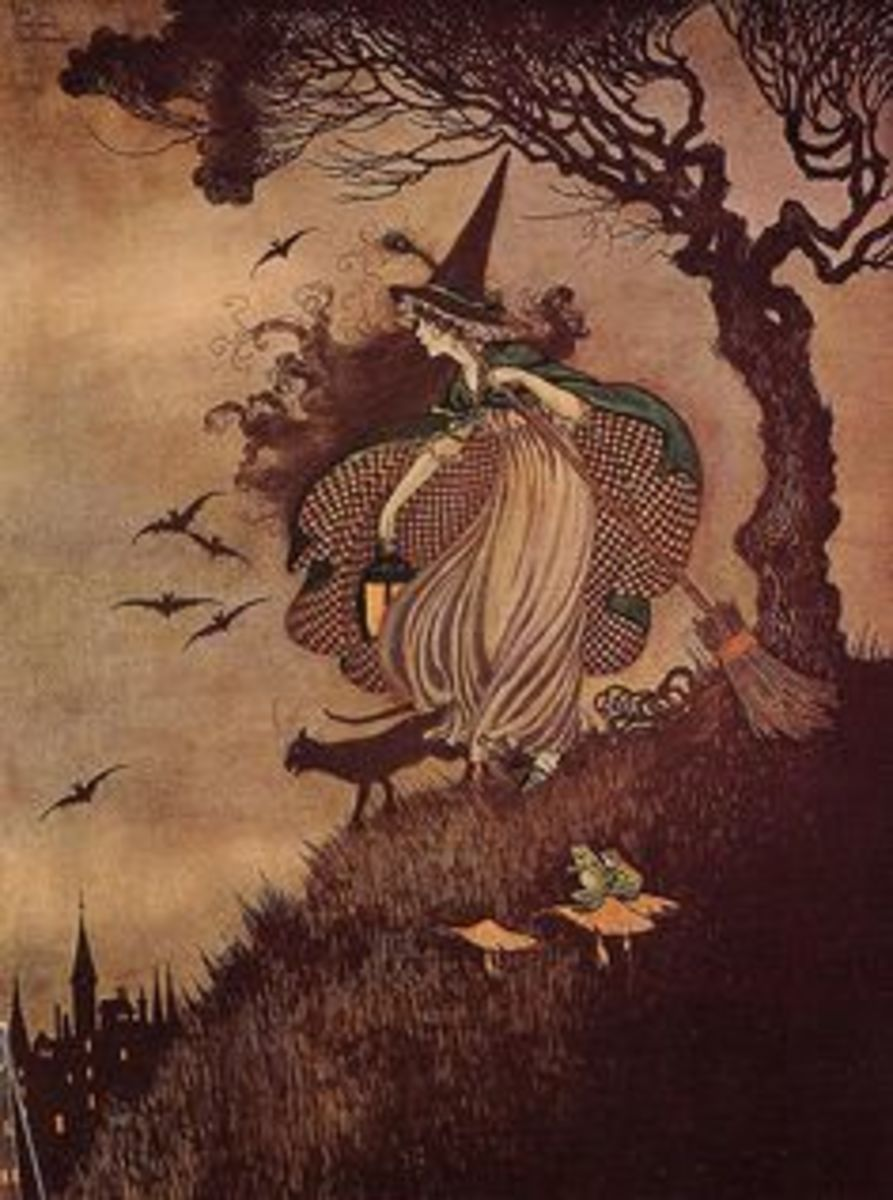 Witch and Fairies (Arthur Rackham)
