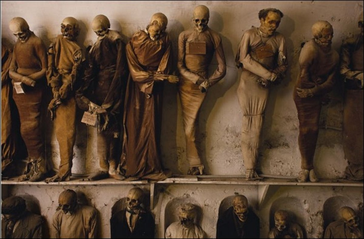 The Capuchin Catacombs of Palermo, Sicily, in southern Italy.