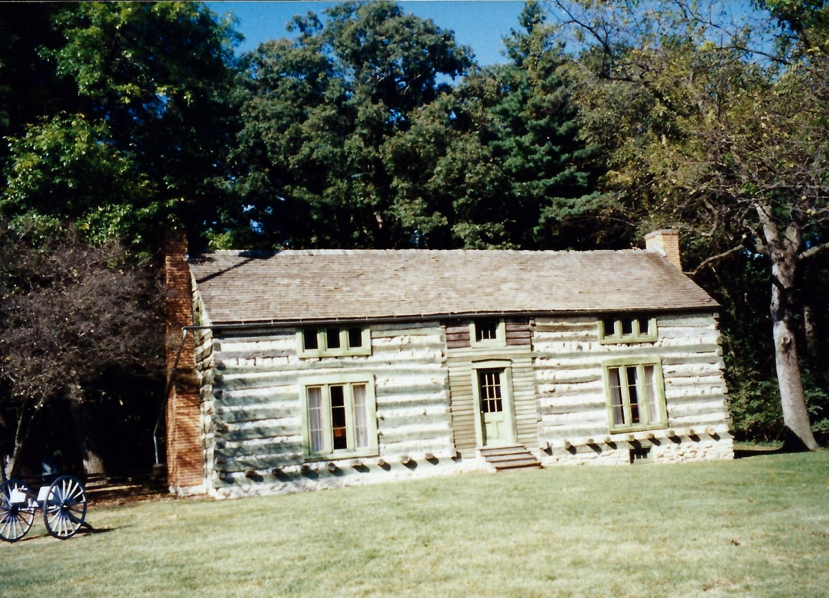 The cabin that Ulysses S. Grant hand built and occupied in 1856.