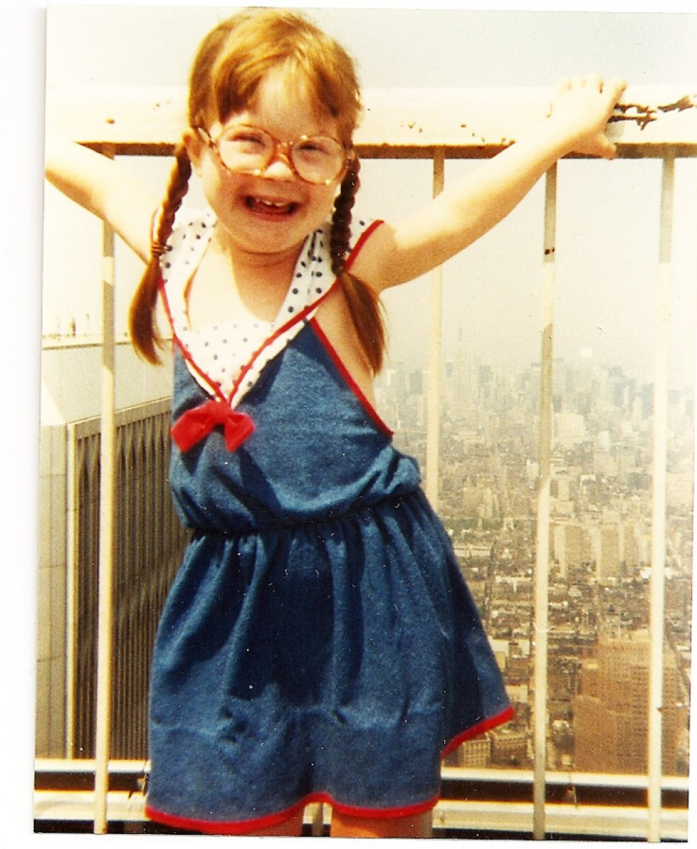 Down syndrome - one happy girl