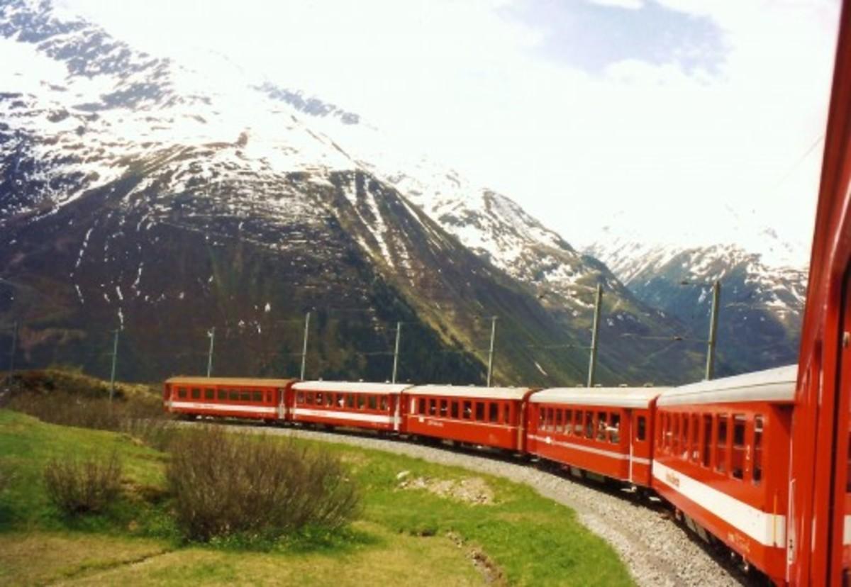 Glacier Express Train to Tasch, Zermatt and Matterhorn Mountain in Switzerland with Pictures