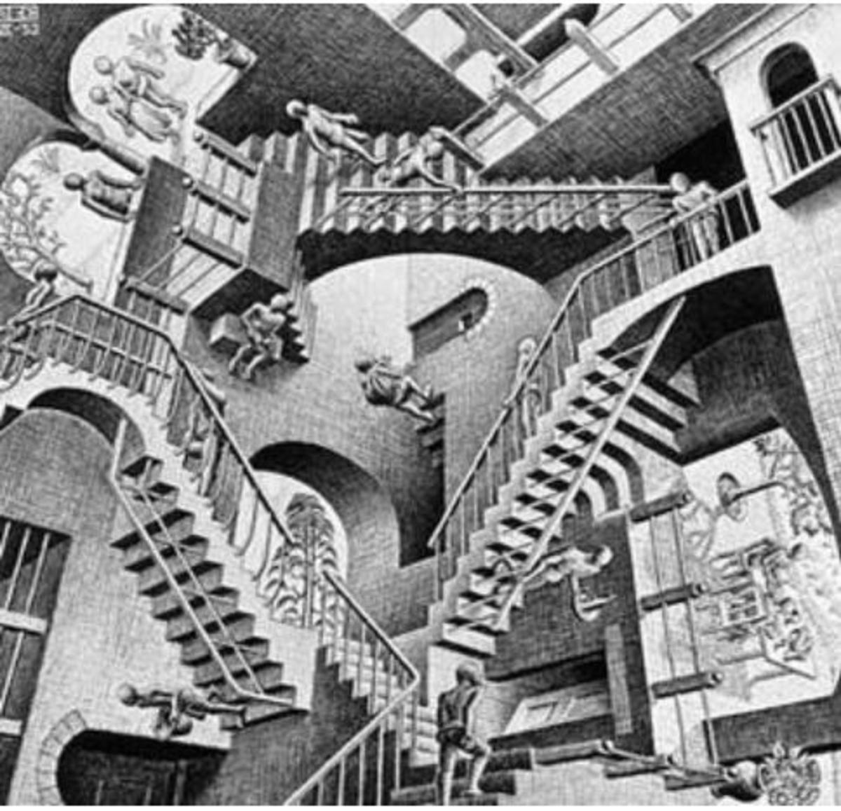 Litograph by  M.  C. Escher, 1953.