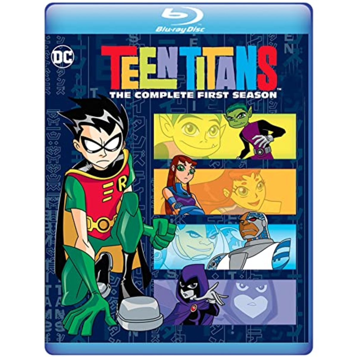 """Teen Titans Season 1"" blu-ray cover."