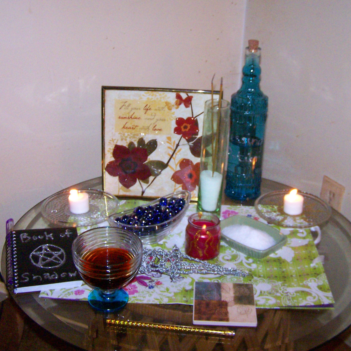 How to make a wicca altar on a dollar store budget exemplore for Pagan decorations for the home
