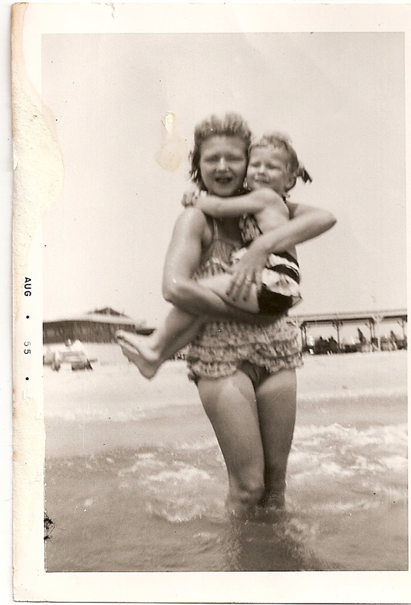 Mommy and I at the beach