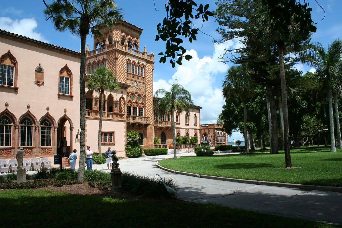 The Palatial Winter Mansion of John and Mable Ringling in Sarasota, Florida