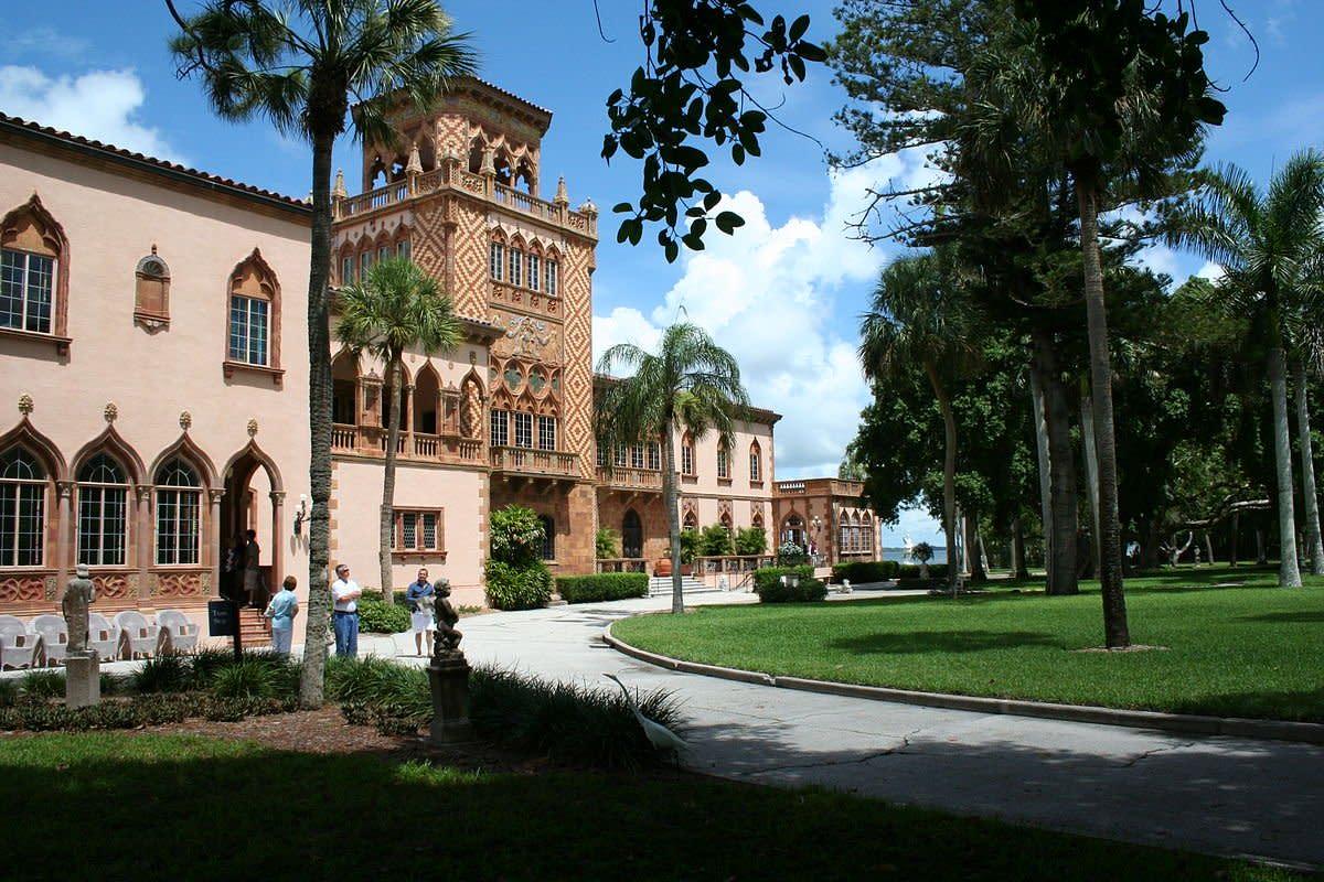 The Palatial Winter Mansion of John and Mable Ringling in Sarasota, Florida