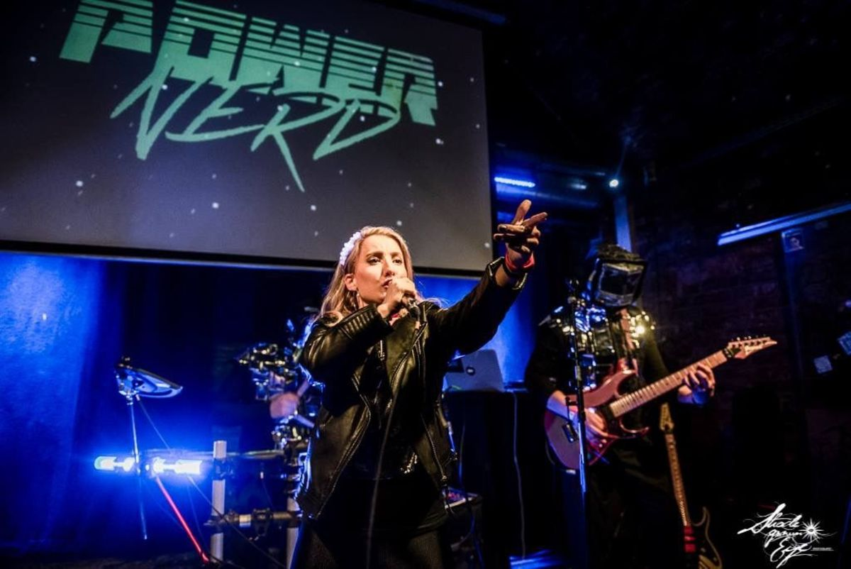Dana Jean Phoenix performing with Powernerd in Vienna, Austria (Photo by Shade Grown Eye Photography)
