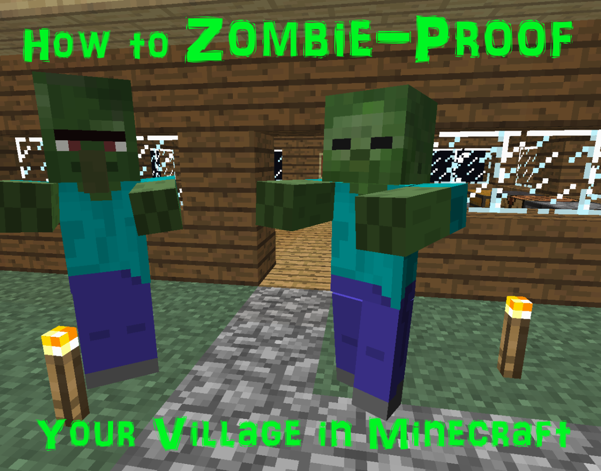 How to zombie proof your village in minecraft levelskip for Zombie build