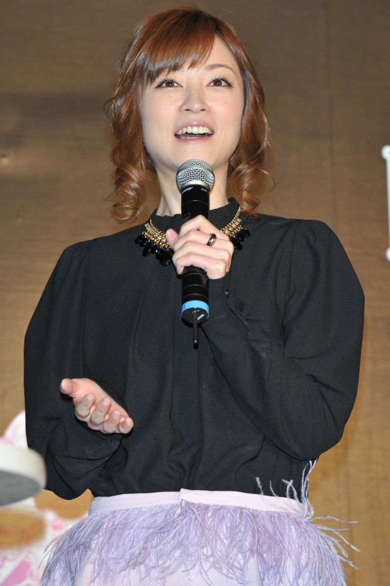 Hitomi Yoshizawa seen here in better times as she attends an event for the video game called Final Fantasy Brave Exvius.