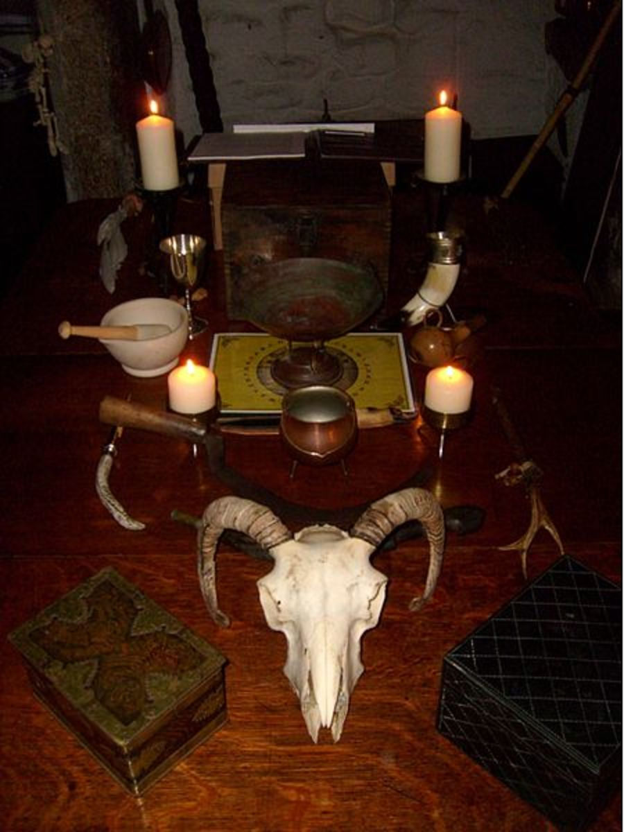Some examples of tools and items that may be used within Wicca.