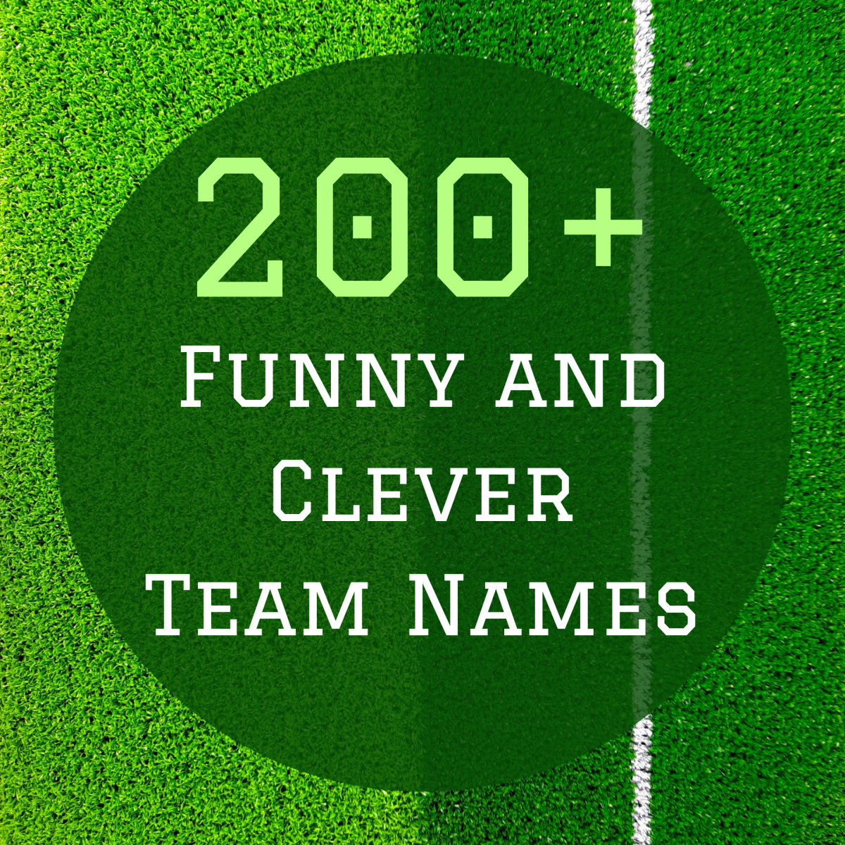 Team spirit is a part of what makes sports so fun. Good team spirit starts with a great team name.