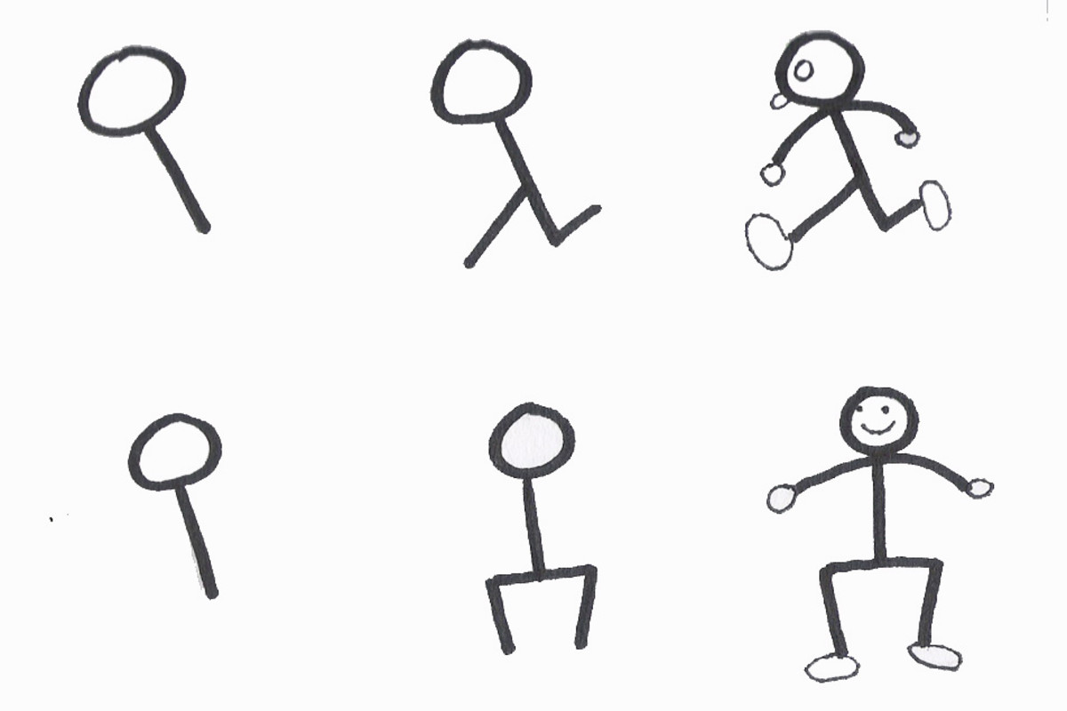 how to teach kids to draw a person