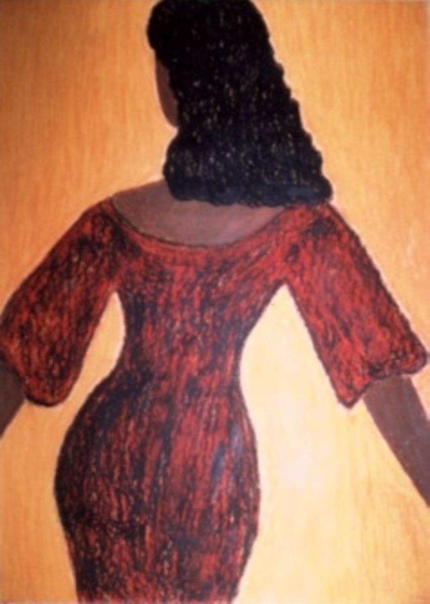 Seductive Black Woman Art by Injete Chesoni