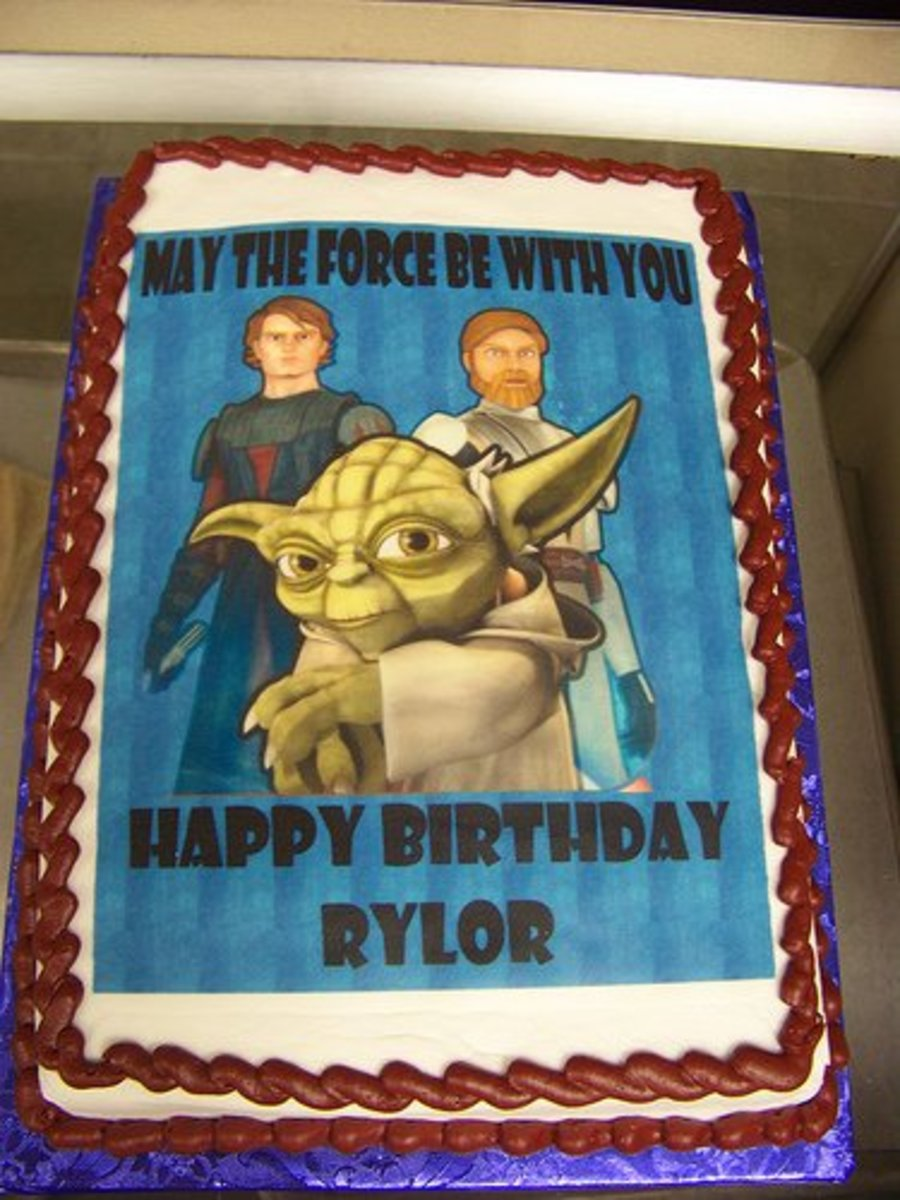 Star Wars birthday cake.