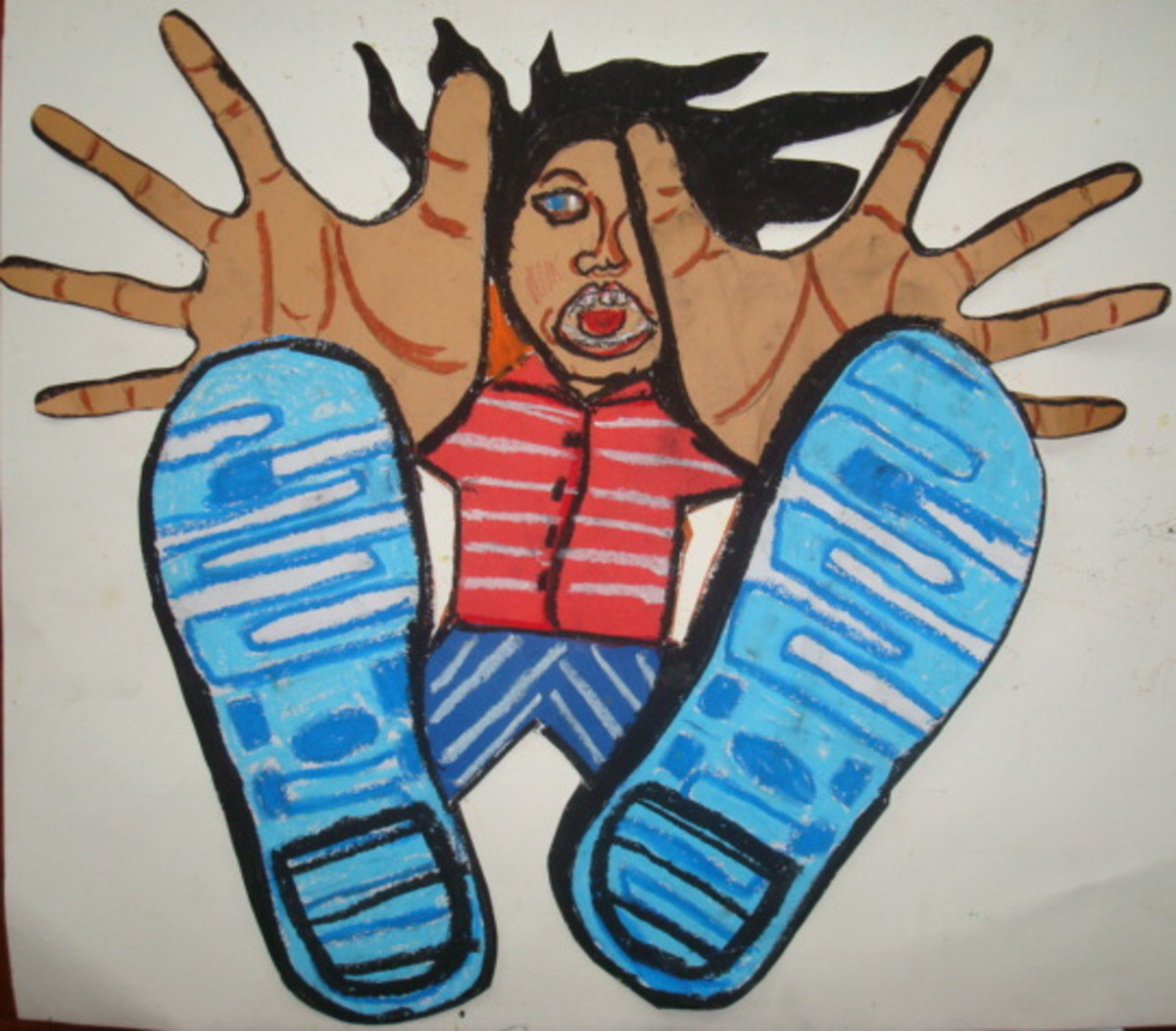 Kid's Art Project: Free-Fall Foreshortening