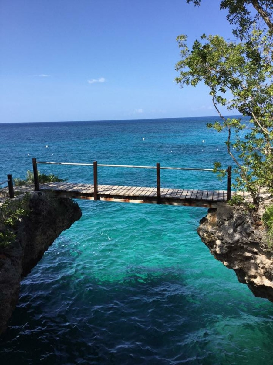 A section of the beach at Negril where the clearest blue water and white sands make visitors never want to leave.