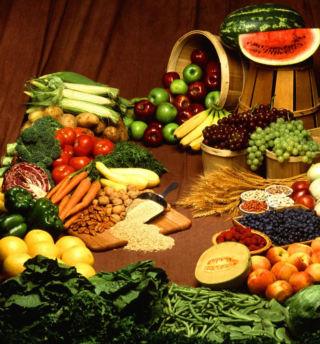 High-Fiber-Content Foods: Fruits, Vegetables, and Cereals