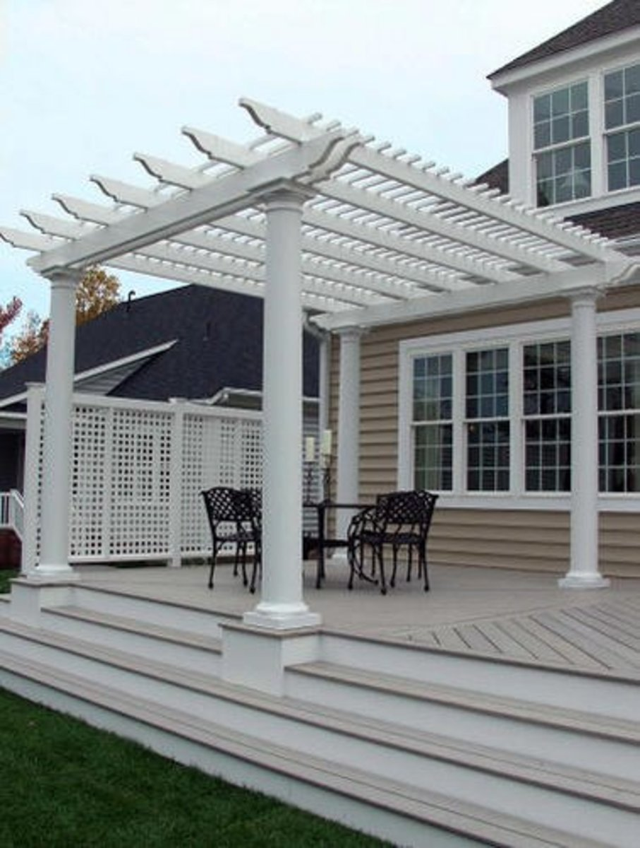 Different types of outdoor pergola roof materials - Pergola with roof ...