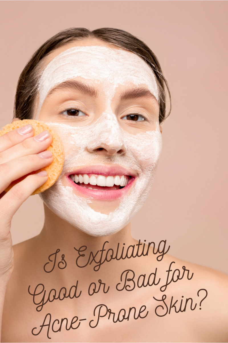 Exfoliating on a regular basis is a great regimen to stick to if you have acne.