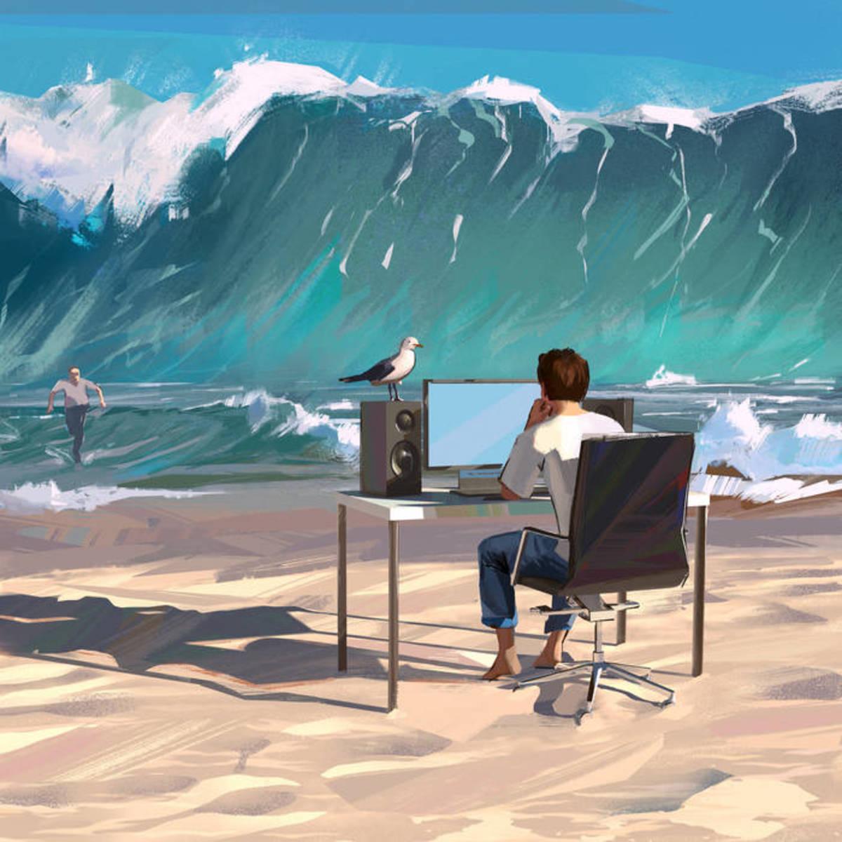 "Single artwork for ""Black Sand"" by Six Leaves Left"