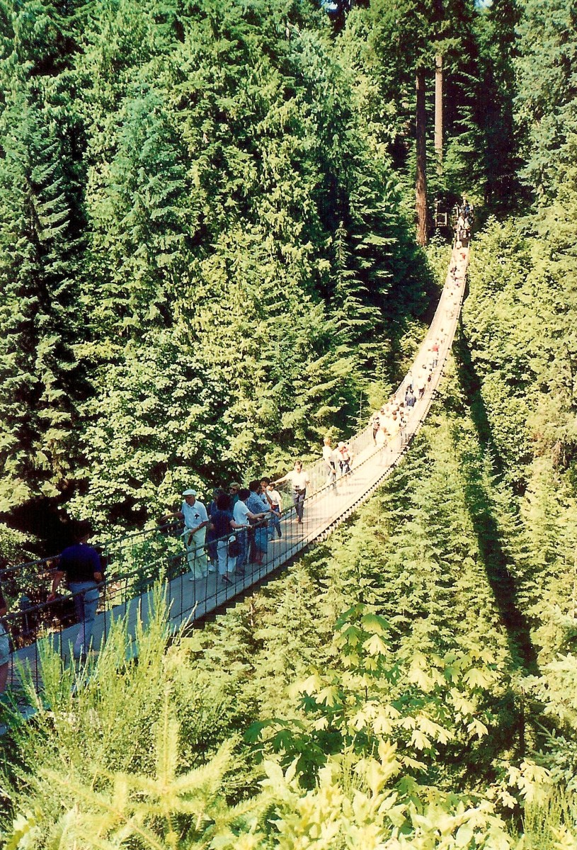 Vancouver's famous Capilano Suspension Bridge and Park in Canada