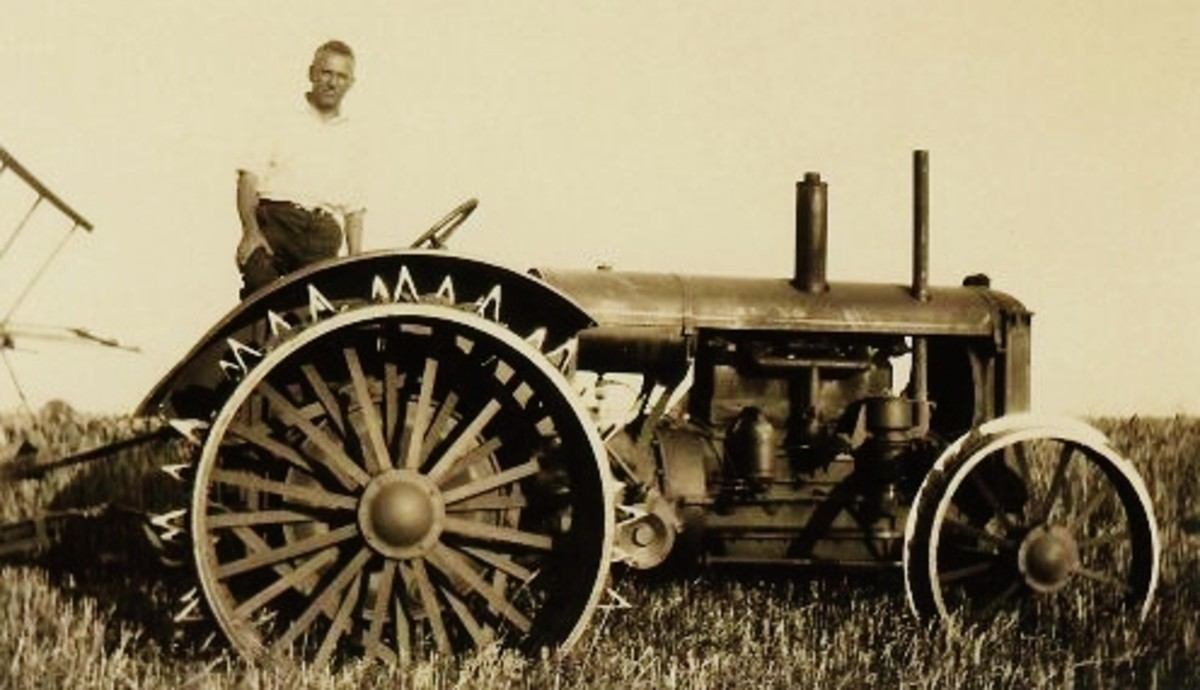 My great uncle's tractor (probably a late 1920s version?)