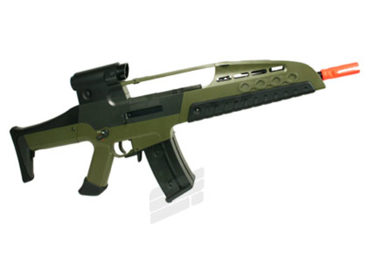 What is the difference between an AEG and LPEG airsoft gun?
