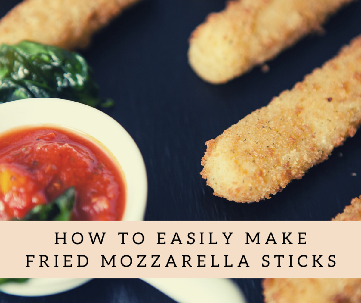 These mozzarella sticks are great for get-togethers.