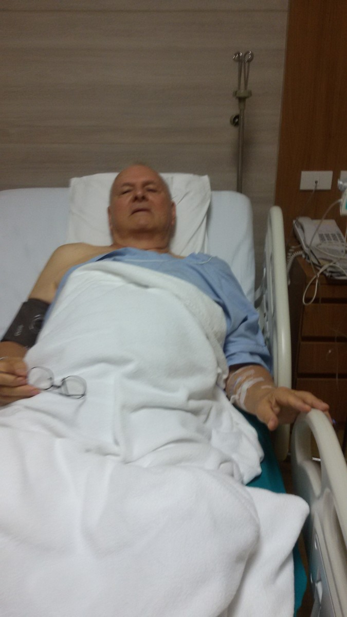 A few hours after my hernia operation