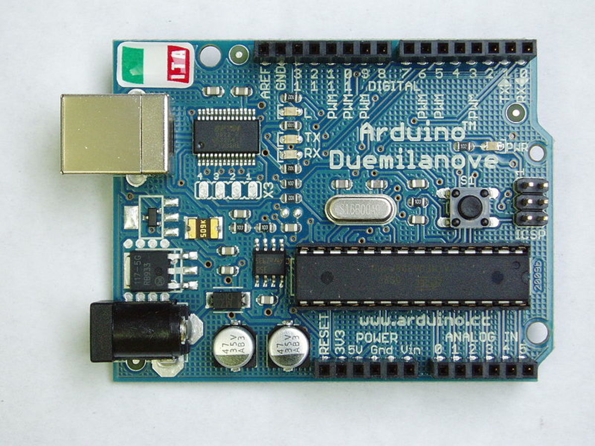 Typical Arduino development board