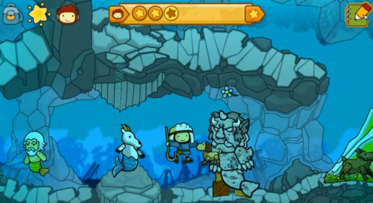 Scribblenauts Unlimited Walkthrough: Lost Kingdom of Parentheses and Abian Sea Front